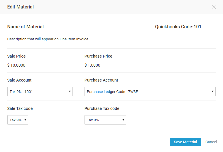 Item Sync with Quickbooks Online