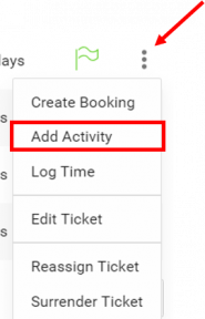 Add Activity for Ticket