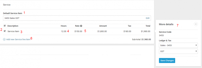 Client Invoicing Accelo - Invoice for services