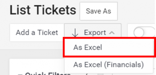 Export Tickets as Excel