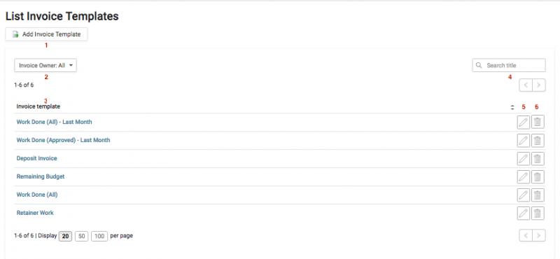 Listing Templates Accelo - Invoice temp