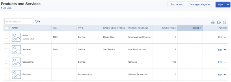 Item Sync With Quickbooks Online Accelo - Free invoicing online for service business