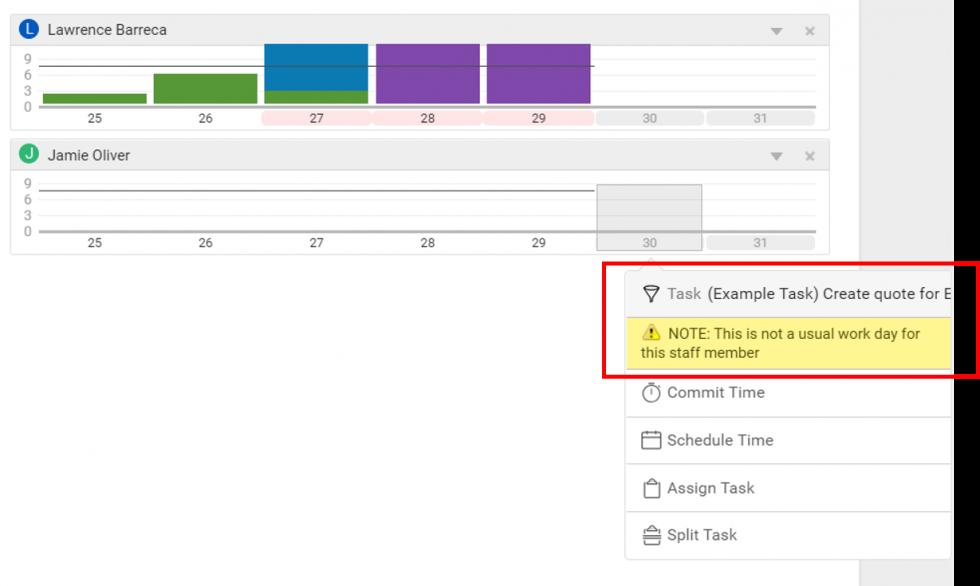 Allocate Work in Team Scheduling