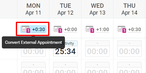 External Appointments In Your Schedule