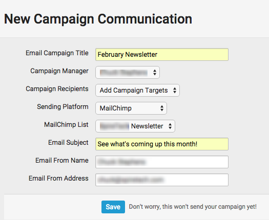 how to create email sequence mail chimp