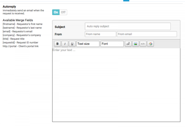 Request Setup & Configuration