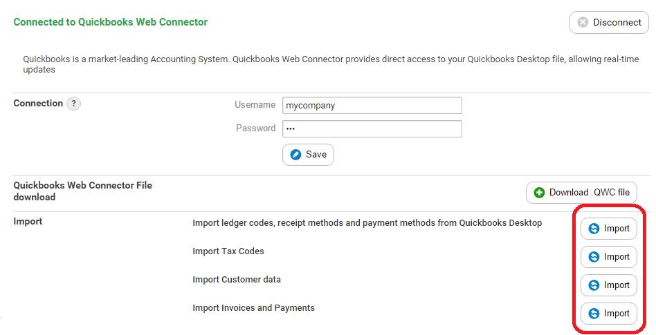 QuickBooks Desktop Accelo - Import invoices into quickbooks