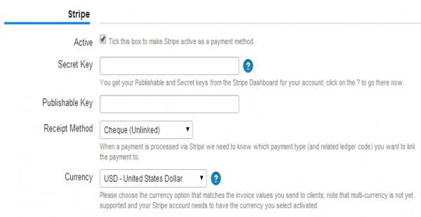Stripe Accelo - Send invoice using stripe