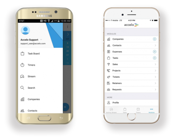 Image result for accelo crm mobile
