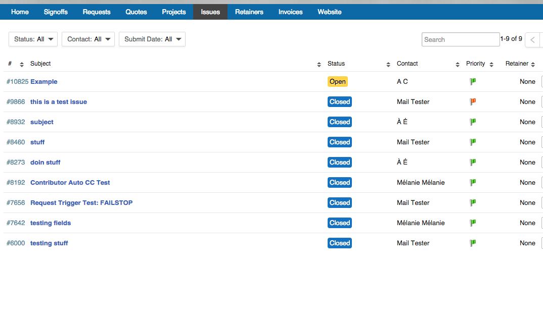 Accelo's Client Portal feature
