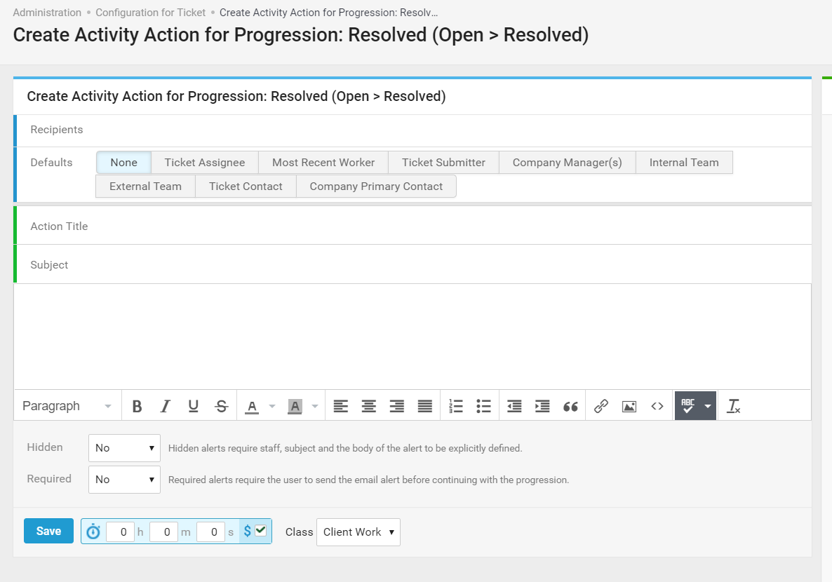 Accelo's project management templates and tasks feature for unlimited templated notifications