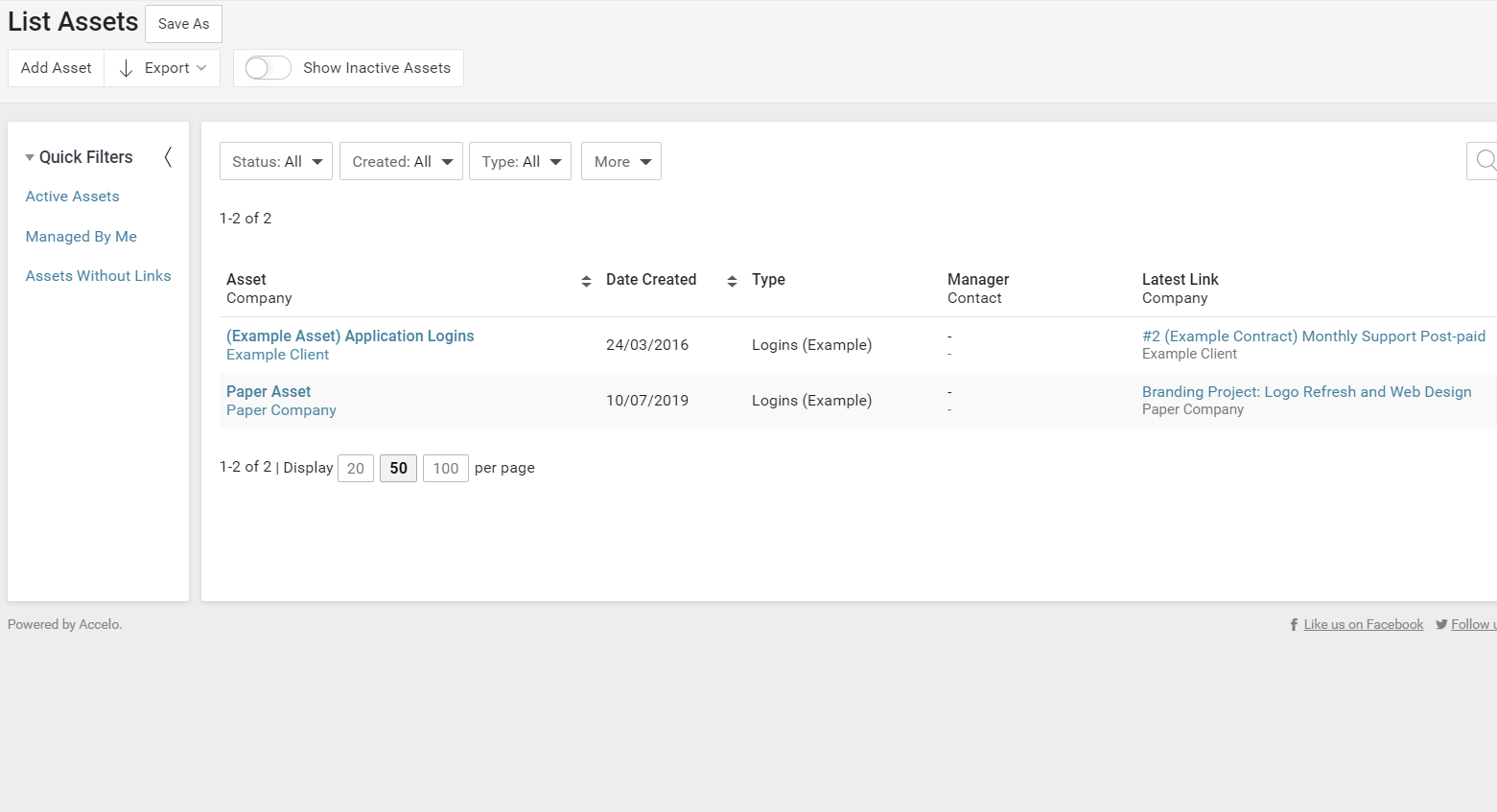 Accelo's project planning feature for invoicing assets