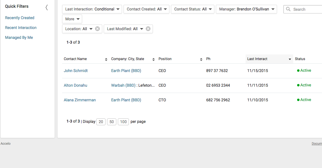 Accelo's automated administrative tasks platform for segmenting sales prospects